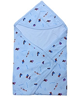 Tinycare - Hooded Towel with Fish Print