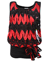 Buy SAPS - Sleeveless Neted Party Wear Top