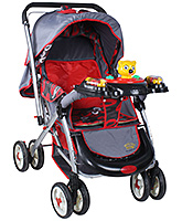Fab N Funky - Red And  Grey Baby Pram - 0 Months +