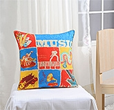 Swayam - Music Print Cushion Cover - 12 X12  Inches