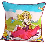 Swayam - Princess Print Cushion Cover - 12 X12  Inches