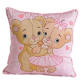 Swayam - Warm Hug Print Cushion Cover - 16 X16  Inches