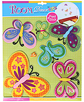 Fab N Funky - Multicoloured Butterfly Stickers - 30.5 X 30.5 Cm