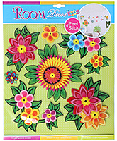 Multicoloured Flowers Dimensional Stickers