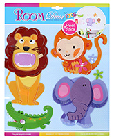 Fab N Funky - Wild Animals Decorative Stickers - 30.5 X 30.5 Cm