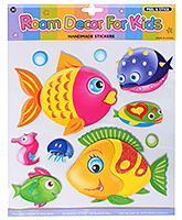 Fab N Funky - Sticker Of Cute Little Fishes - 30.5 X 30.5 Cm