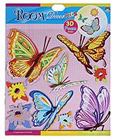 Fab N Funky - Butterfly Print Sticker - 30.5 X 30.5 Cm