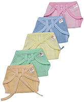 Buy Tinycare Multicolor Baby Nappy Size 0 - Set of 5
