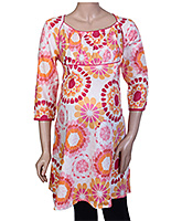 Uzazi Long Floral Printed Maternity Top