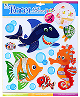 Fab N Funky Fish Print Decoration Sticker - 30.5 X 30.5 Cm