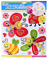Fab N Funky - Honey Bees And Butterfly Decorative Sticker - 30.5 X 30.5 Cm