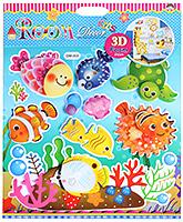 Fab N Funky - Fish Print Decoration Sticker - 30.5 X 30.5 Cm