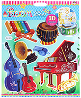 Fab N Funky - Musical Instruments Room Decor Stickers - 30.5 X 30.5 Cm