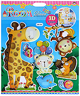 Fab N Funky - Ziraffe And Puppy Print Decorative Stickers - 30.5 X 30.5 Cm