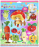 Fab N Funky Vegetables Print Decorative Sticker - 30.5 X 30.5 Cm