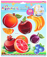 Fab N Funky - Fruits Print Decorative Sticker - 30.5 X 30.5 Cm