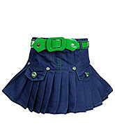 SAPS - Pleated Skirt With Belt
