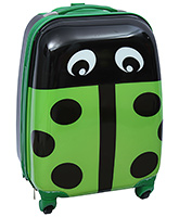 Trolley Bag Lady Bug Print With Push Handle Green 22 x 30 x 45 cm, Designer and Spacious trolley bag w...