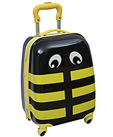 Trolley Bag Lady Bug Print With Push Handle Yellow 22 x 30 x 45 cm, Designer and Spacious trolley bag w...