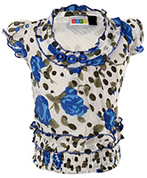 SAPS - Short Sleeves Flower Printed Top
