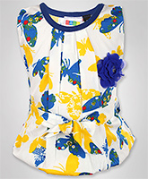 SAPS - Sleeveless Top With Floral Applique
