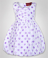 Little Pixies - Sleeveless Dotted Print Frock
