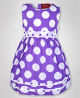 Little Pixies - Purple Polka Dotted Frock