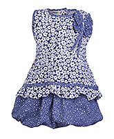 SAPS - Sleeveless Tiered Frock With Bow