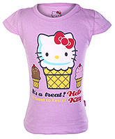 Hello Kitty -  Half sleeves Kitty treat print top