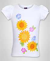 Isabelle - Short Sleeves Flower Print Top