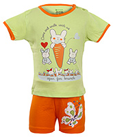 OHMS - Rabbit Print Half Sleeves Top and Shorts Set