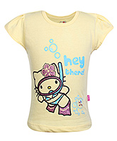 Hello Kitty -  Half Sleeves Hello kitty Print Top