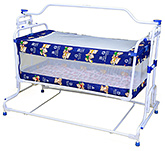 Mothertouch Blue Floral Deluxe Compact Cradle