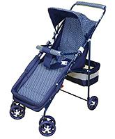 Buy Mothertouch Baby Pram Deluxe - Navy Blue
