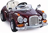 Fab N Funky Battery Operated Maroon Vintage RC Car