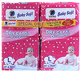 Wipro Baby Soft Diaper Super Saver Combo Large - 48 Pieces