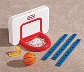 LIttle Tikes - TotSports Attach And Play Basketball Set - 3 Years+