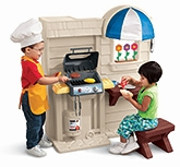 Little Tikes- In And Outside Cook N Grill Kitchen - 2 Years+