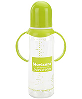 Buy Morisons Baby Dreams Royal Feeding Bottle with Handle Green 250 ml