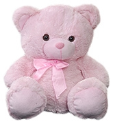Teddy Bear Pink 1 years +, Cute and cuddly soft toy for your kid