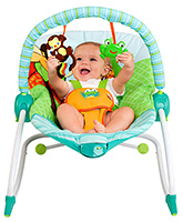 Buy Bright Starts - Bouncer Baby Seat 3 in 1 Peak a Zoo Rocker With Free Funtime Play Patrol worth Rs 400