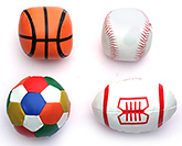 Fab N Funky Multicolor Soft Ball - Set Of 4