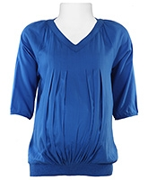 W - V Neck Quater Sleeves Maternity Top - Size 10