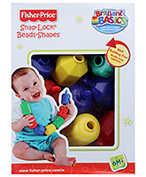 Fisher Price Brilliant Basics Snap Lock Bead Shapes Multicolour