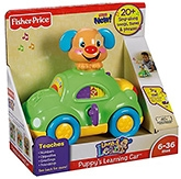 Fisher Price - Laugh And Learn Puppy's Learning Car - 6 Months+