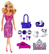 Barbie Playtime for Kittens Doll Pink
