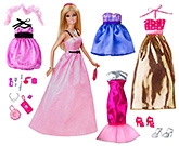 Barbie Glam Fashion Collection Set With Doll In Pink - 3 Years+