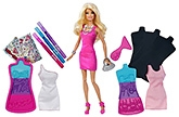 Design Fashion Plates Set With A Doll In Pink 3 Years+, Create fabulous looks for Barbie just desi...
