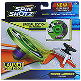 Hot Wheels-Spin Shotz Disc Green Alien Starter Set - 5 Years +