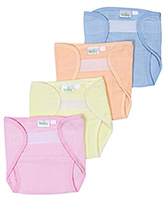 Baby Hug - Multicolored Velcro Cloth Nappy Large - Set Of 4